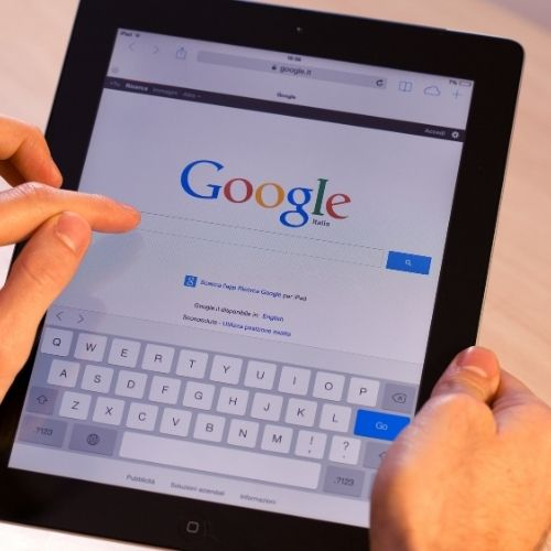 using tablet to search on google